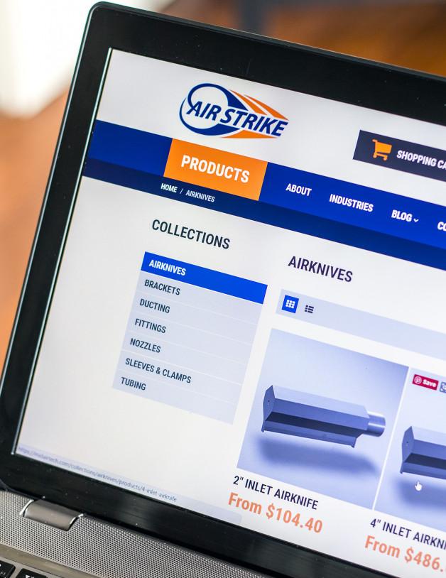 store website design development