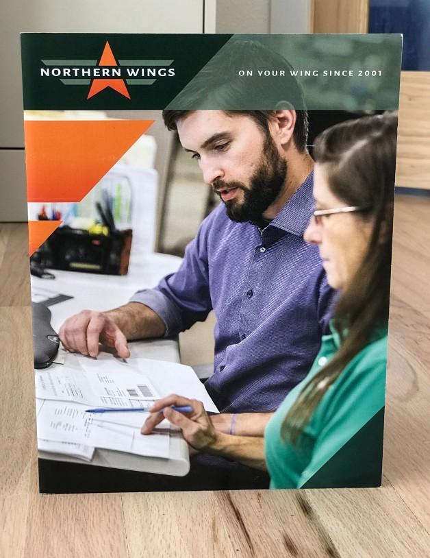 aerospace brochure graphic designer