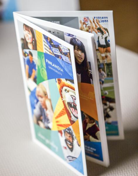 university marketing material design