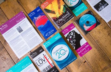 logo brochure newsletter poster design