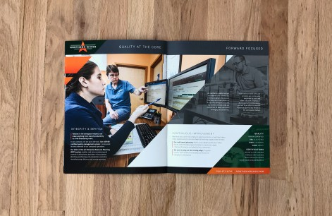 manufacturing brochure graphic design