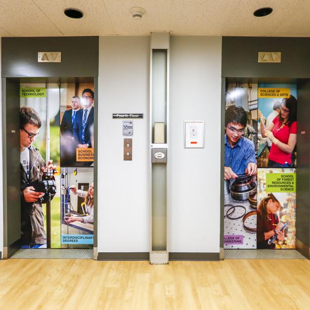 elevator wrap design