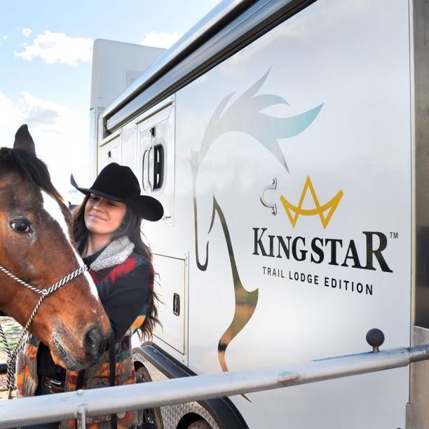 horse trailer decal design