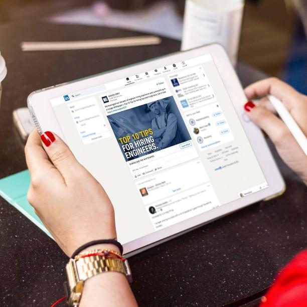 linkedin online ad design