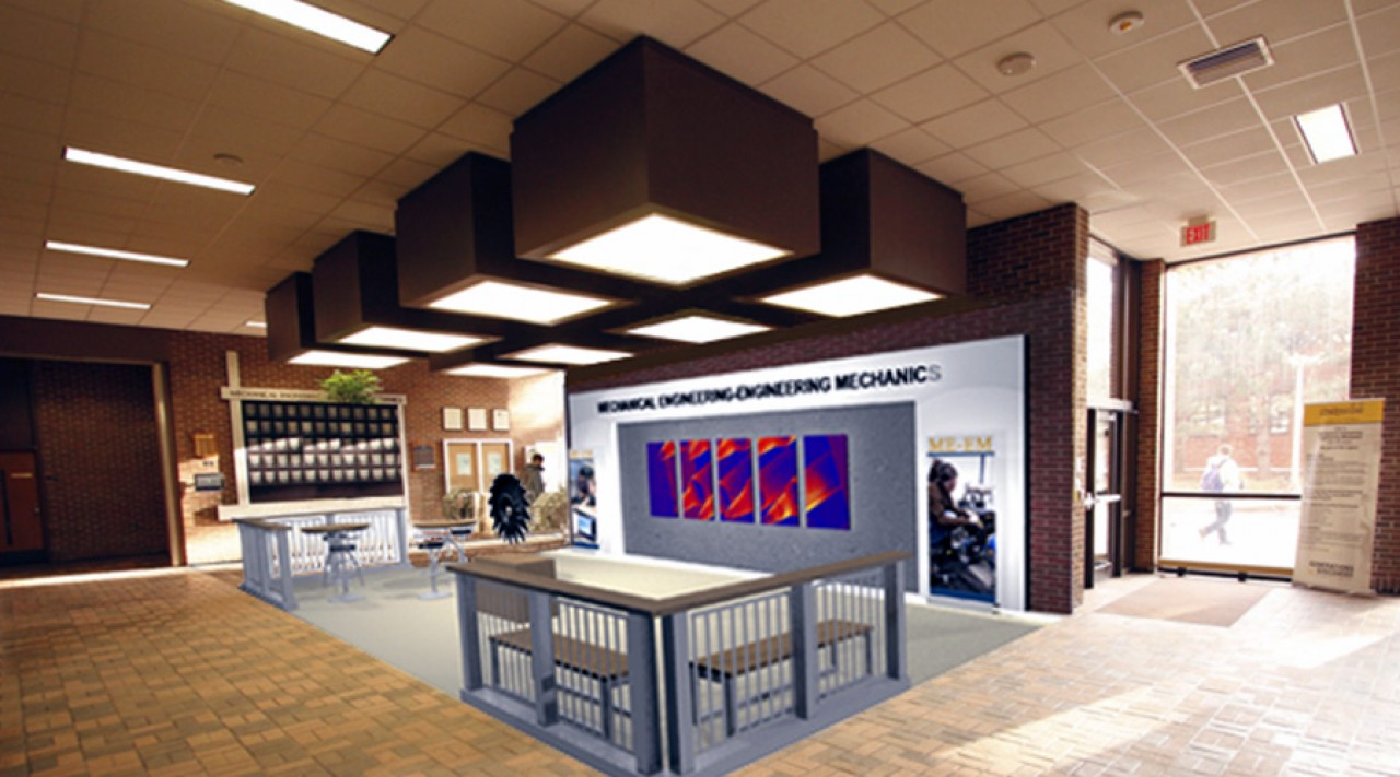 branded lobby design and cad modeling