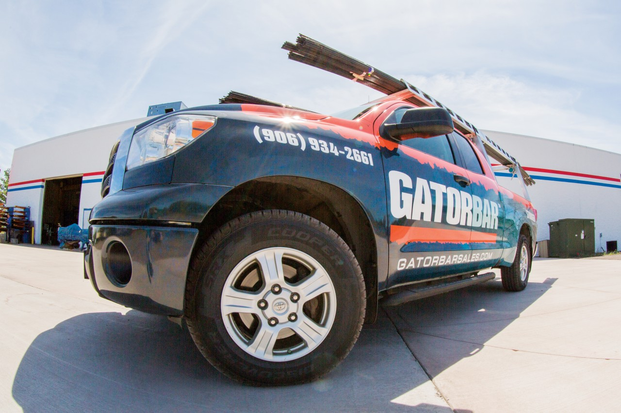 on-site truck wrap photography