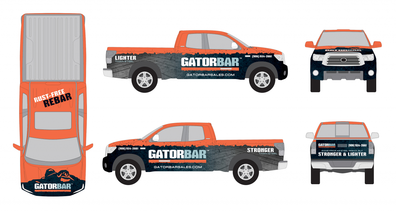 custom graphics vehicle truck wrap