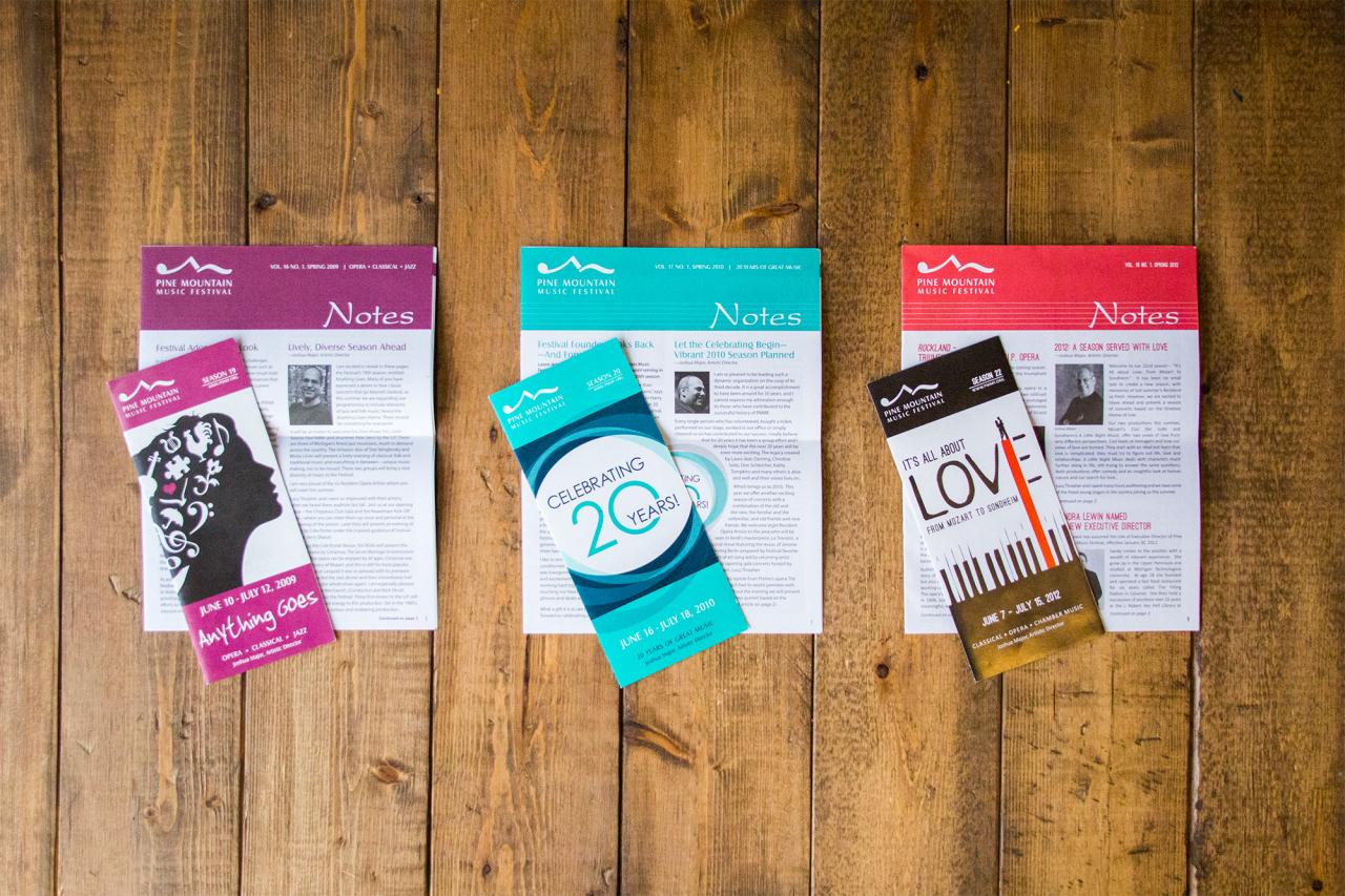 brochure newsletter design