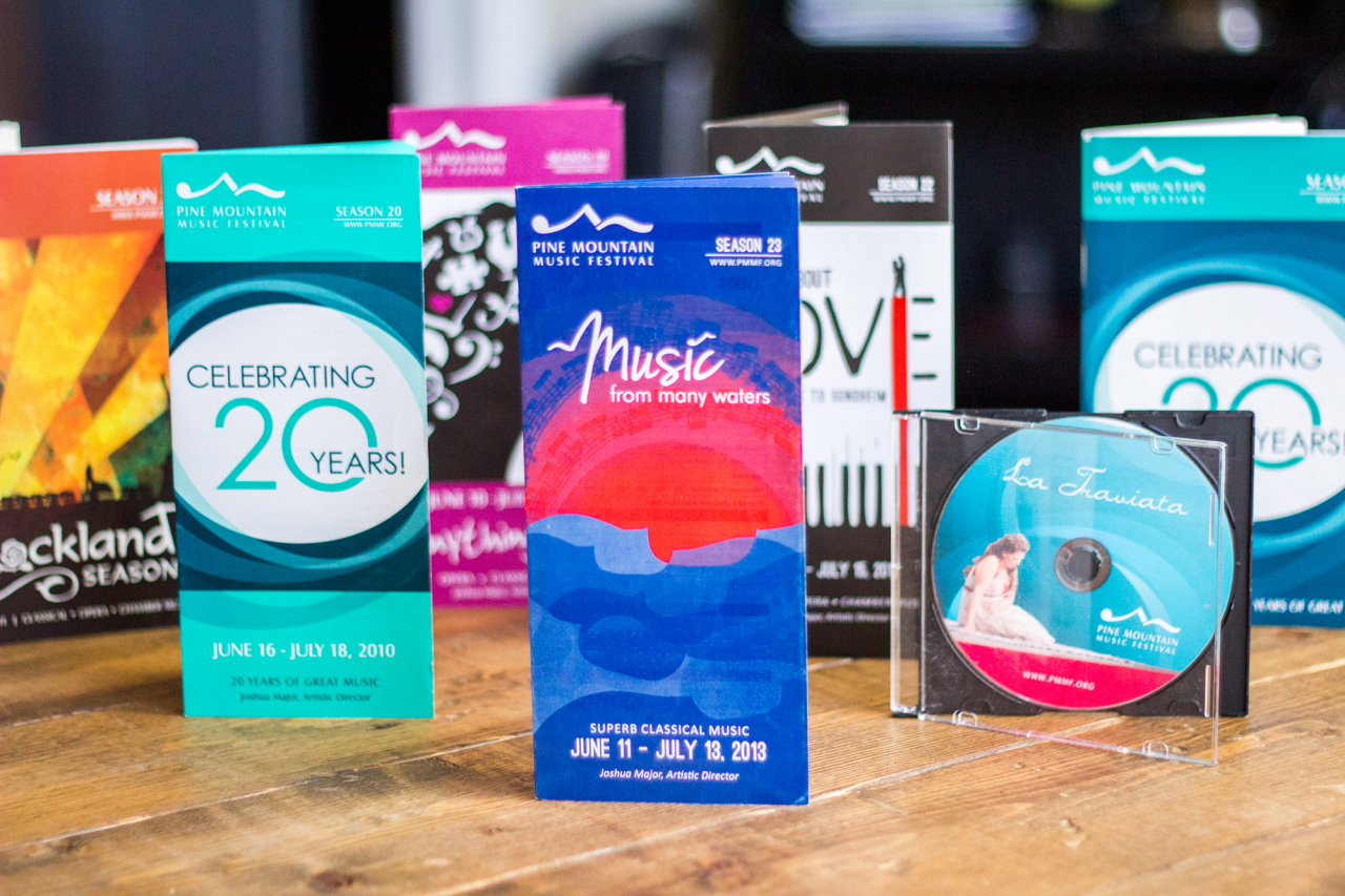 music festival event promotional materials