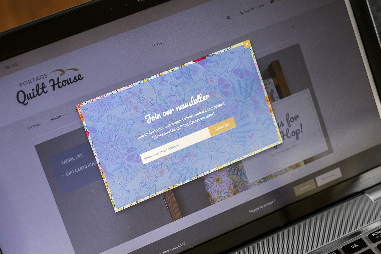 fabric website design