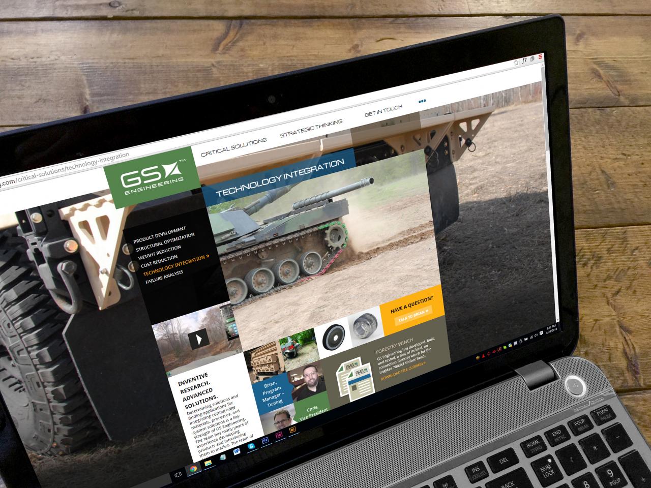 grid based website