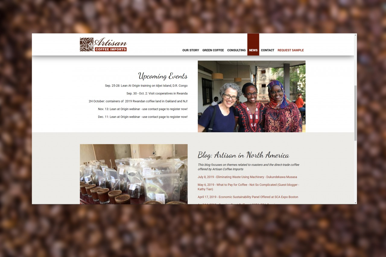 coffee custom website