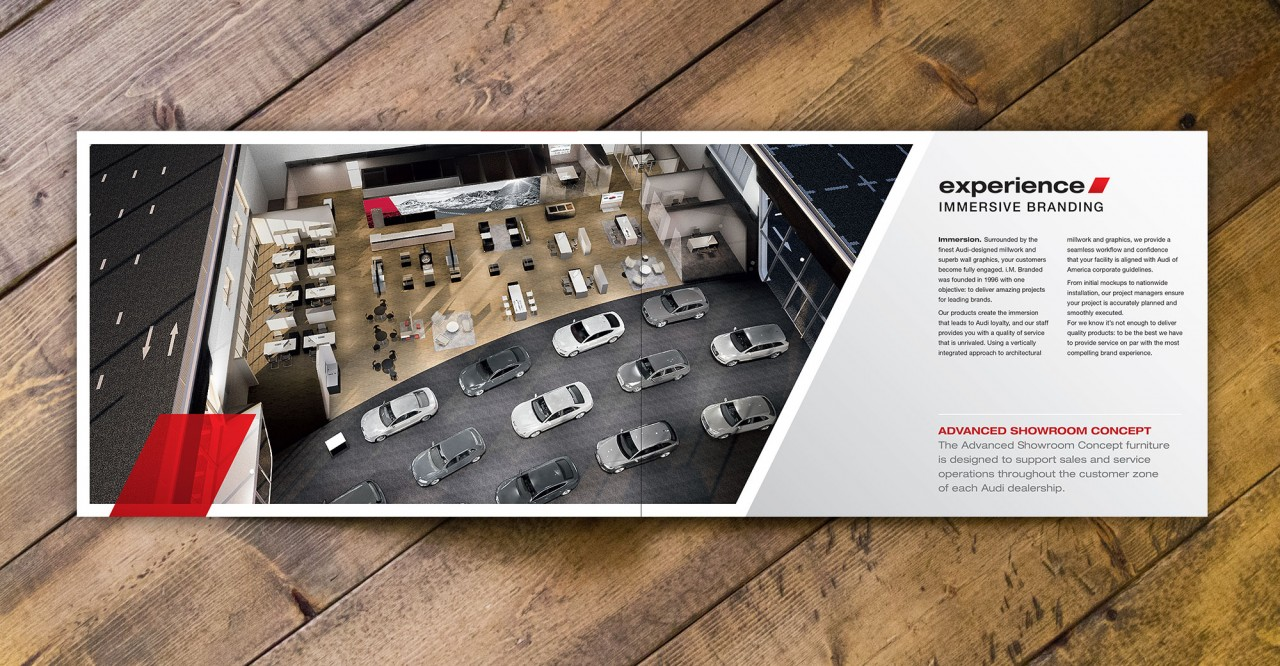 dealership brochure design content
