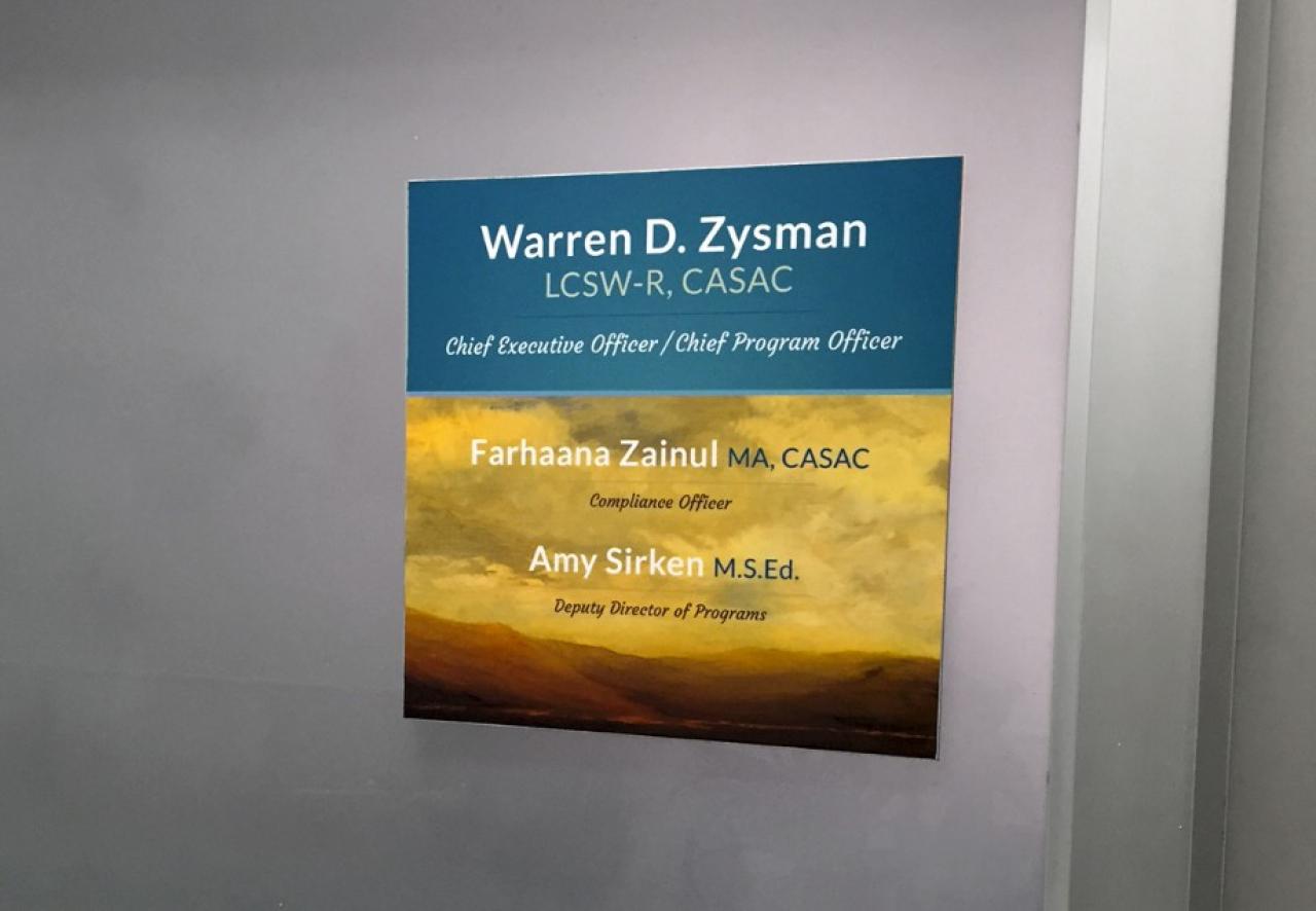 healthcare signage design