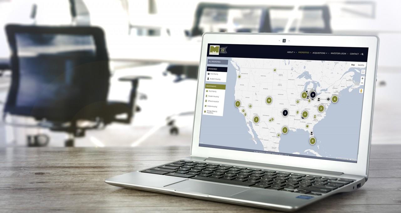website custom map technology