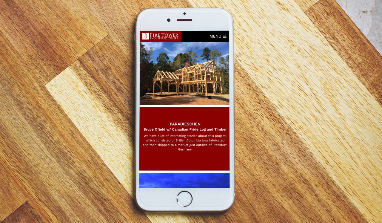 mobile friendly construction website development