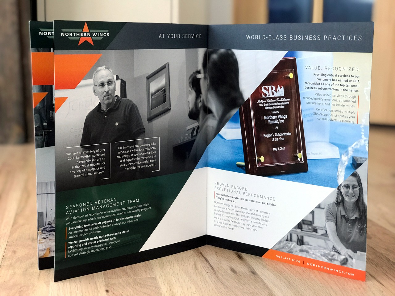 aerospace brochure design