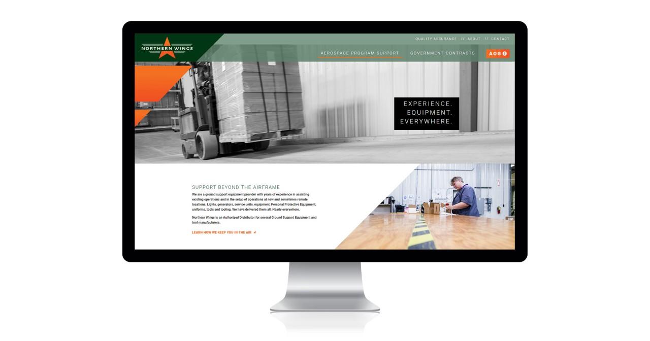 responsive aerospace website development