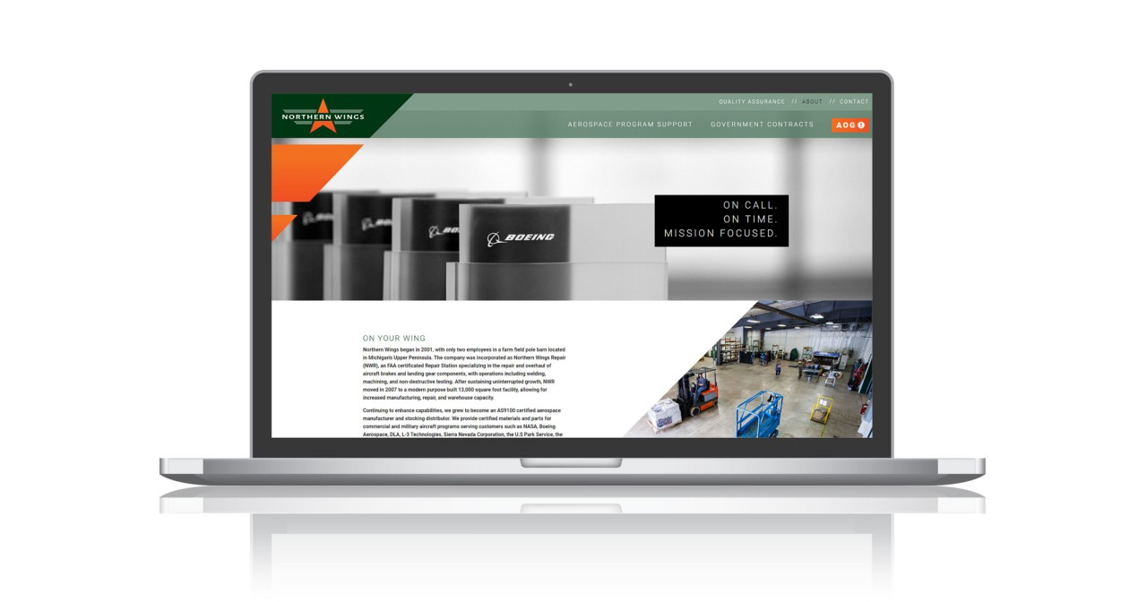 aerospace manufacturing website design