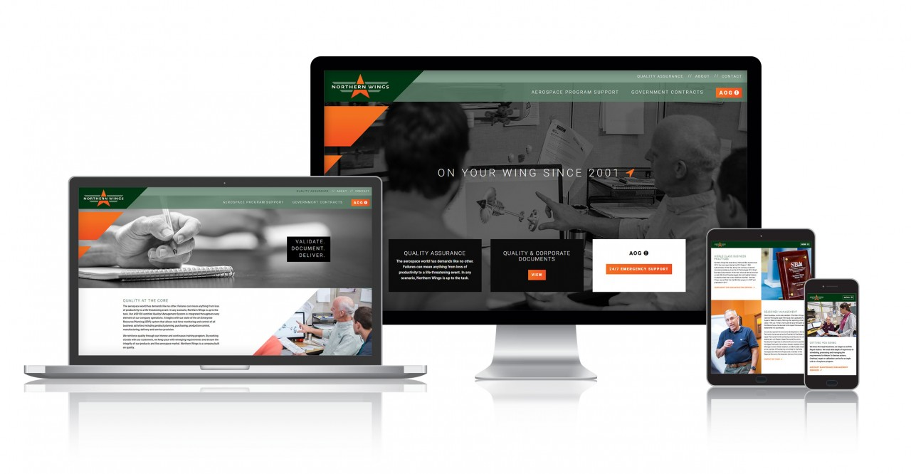 aerospace responsive website design