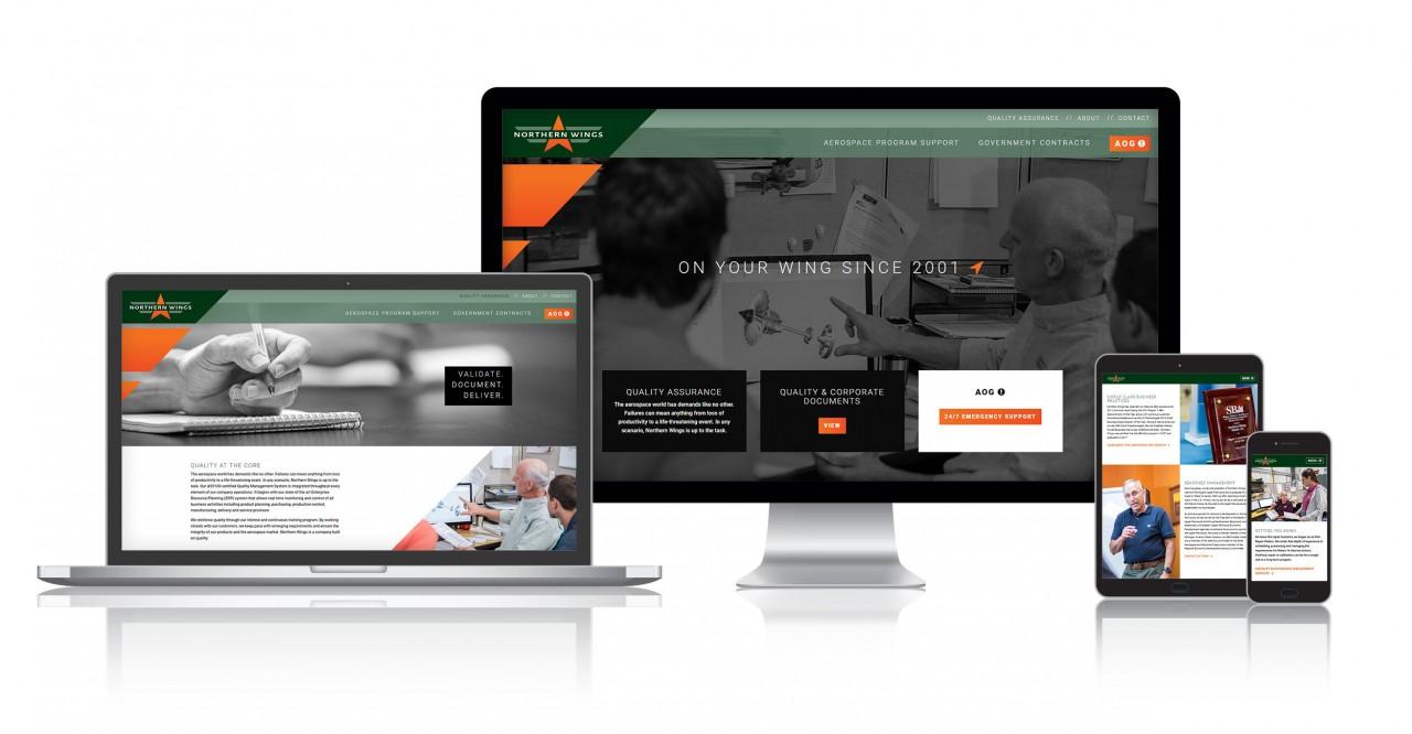 aerospace responsive website design