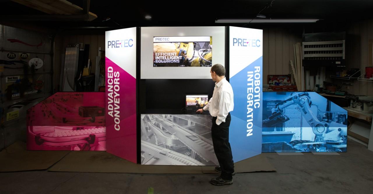 monte tradeshow graphic design booth