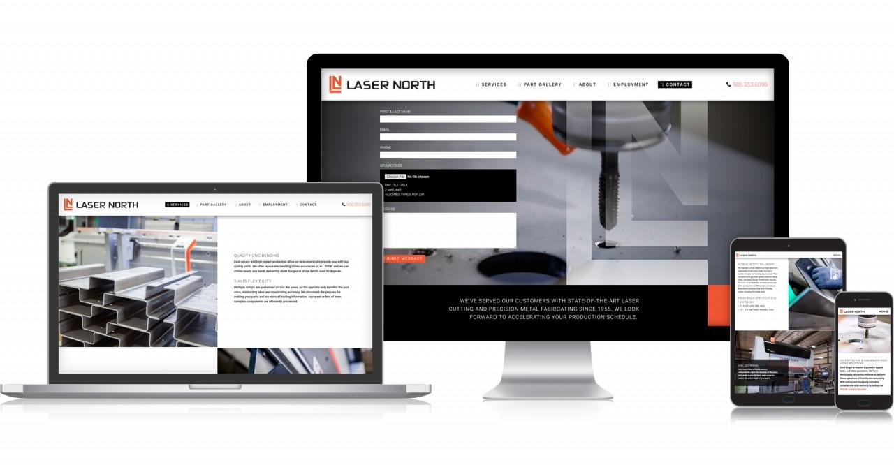 monte website responsive mobile design