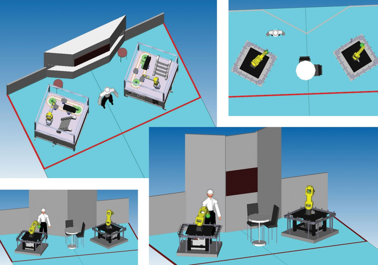 3D tradeshow booth models