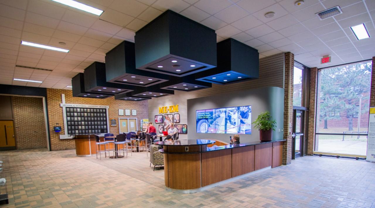 branded lobby space