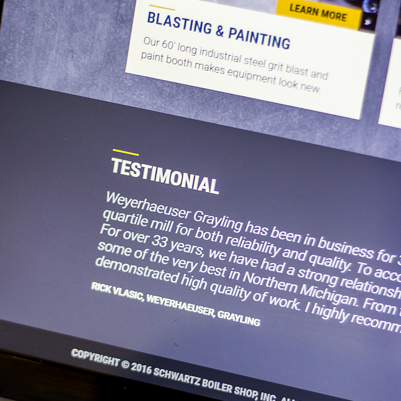 website testimonials