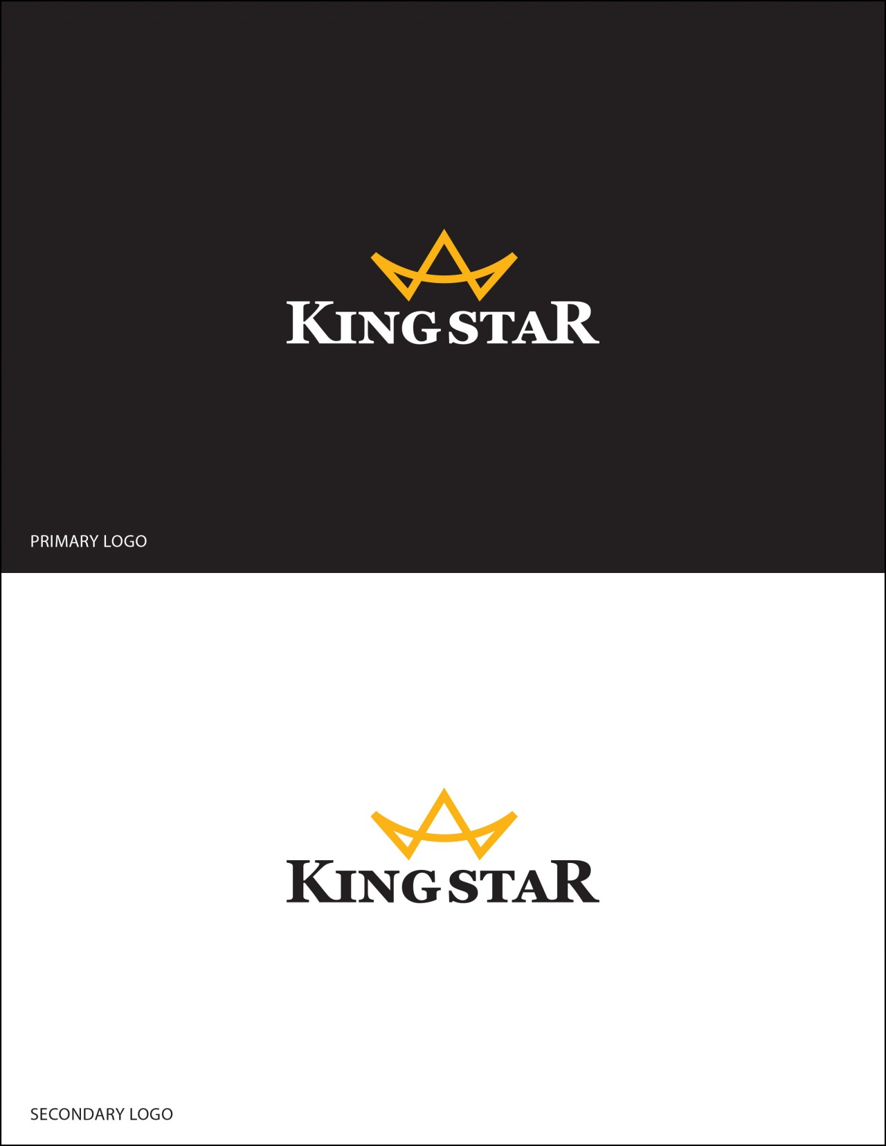 king star crown logo design
