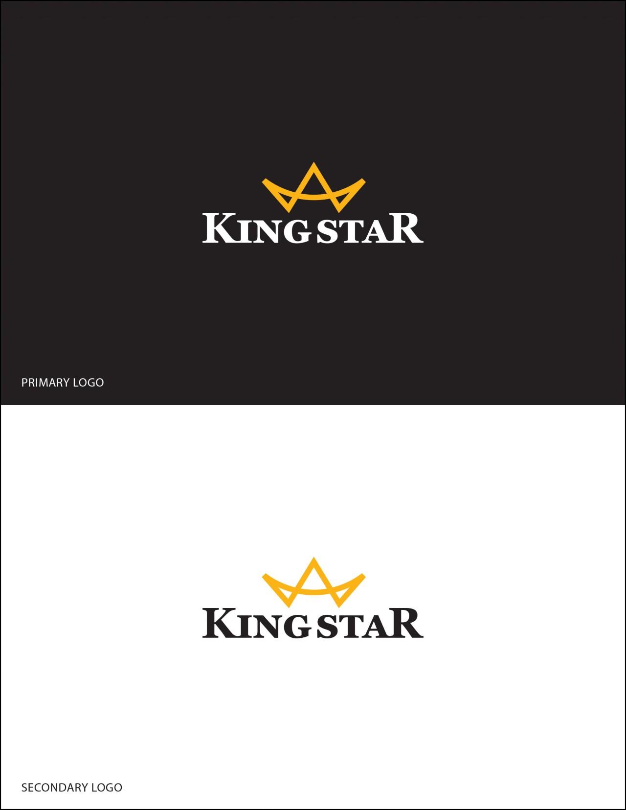 king star crown logo design