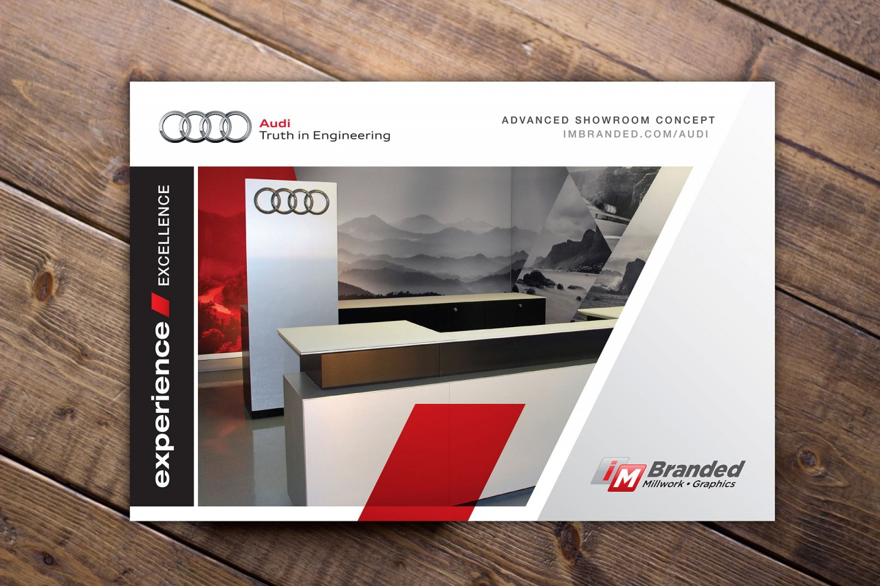 audi automotive brochure design