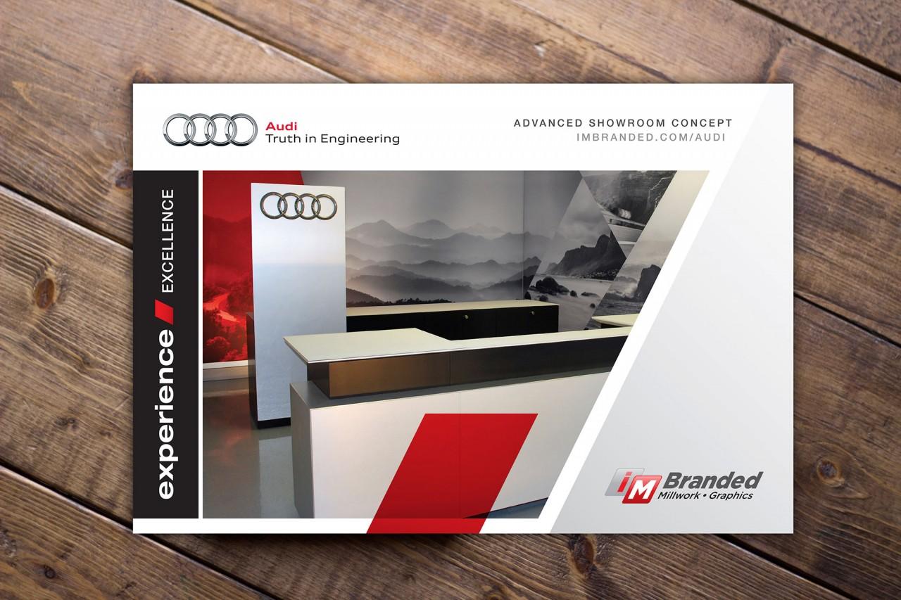 audi automotive brochure design