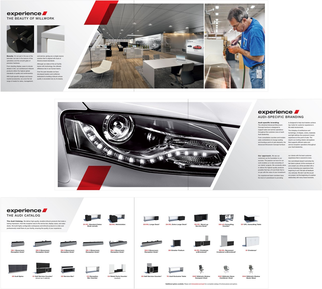 audi brochure design writing