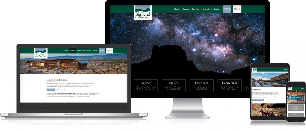 big bend national park website design