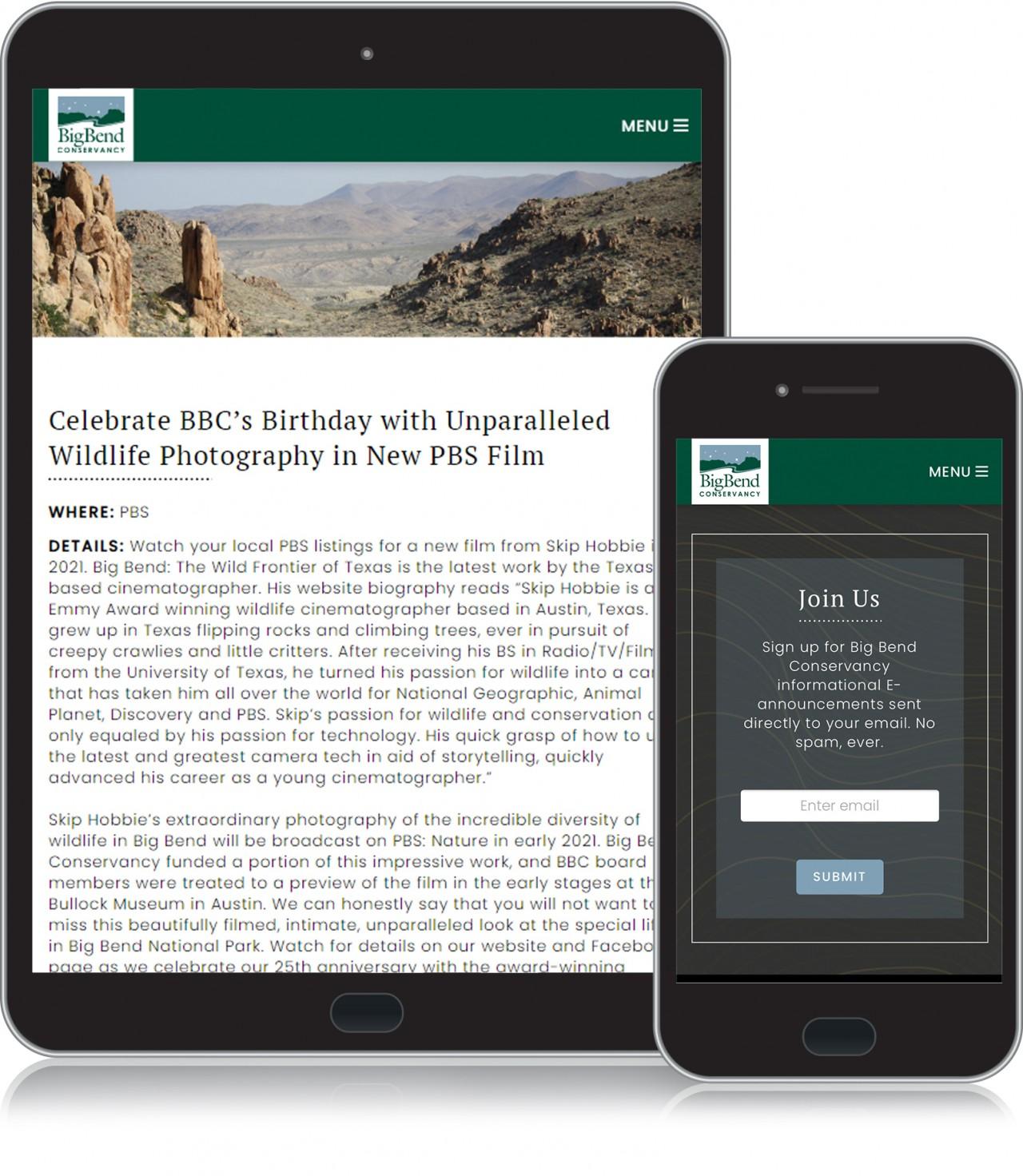 national park website design