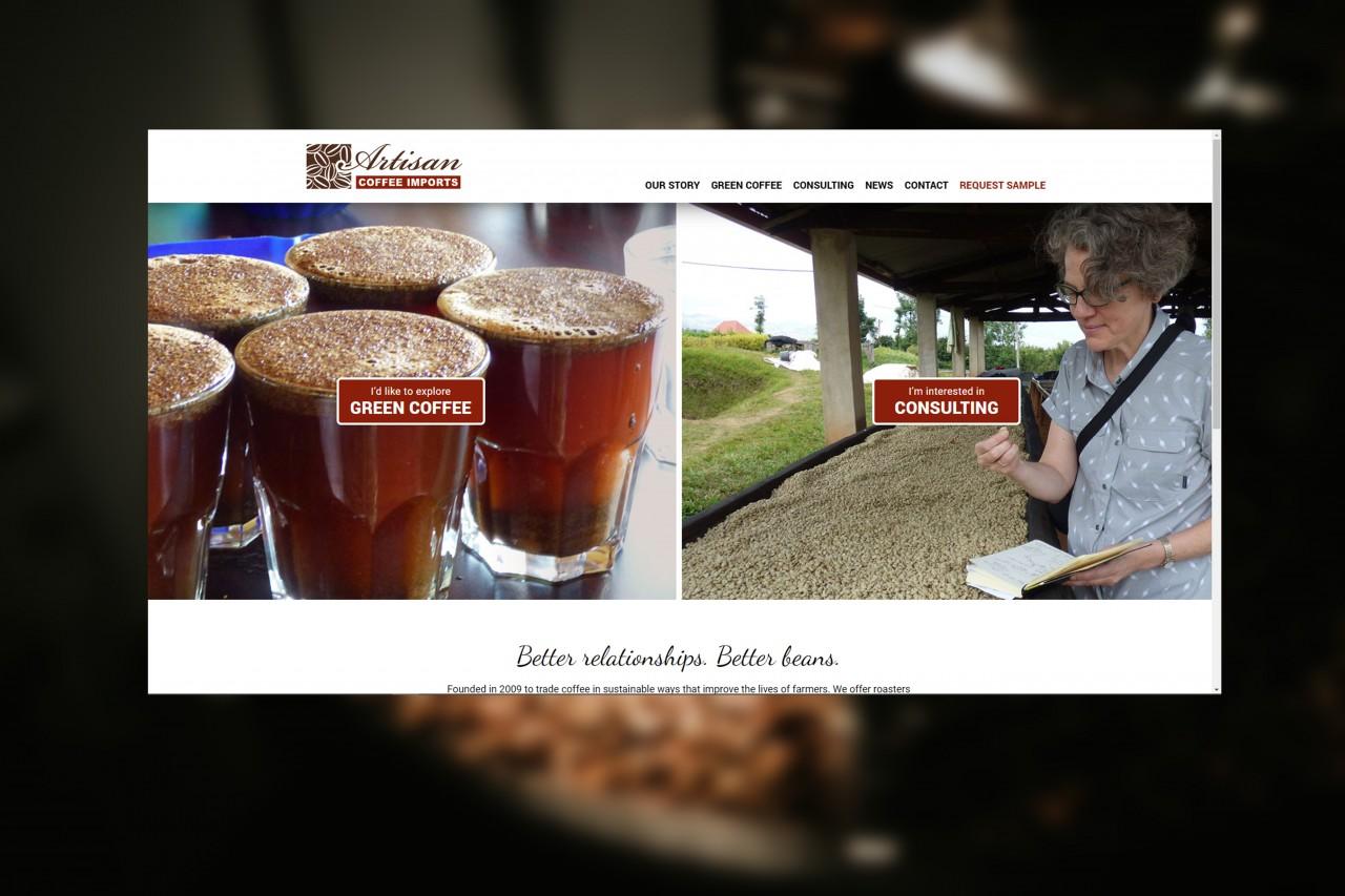 coffee website development