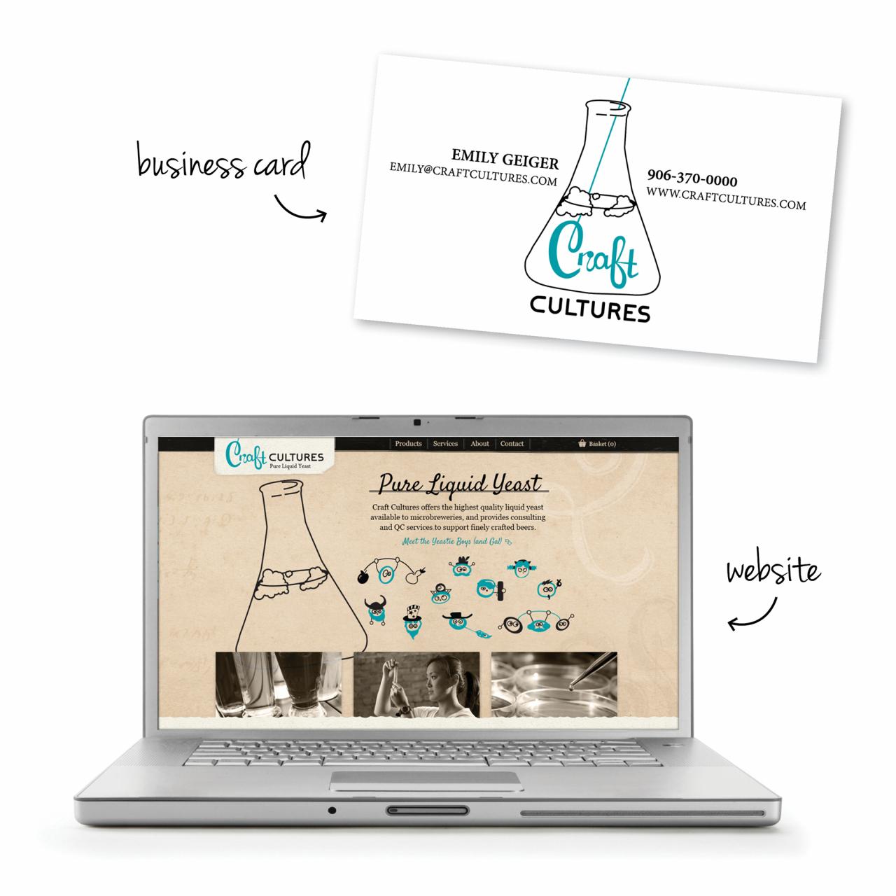 beer website branding