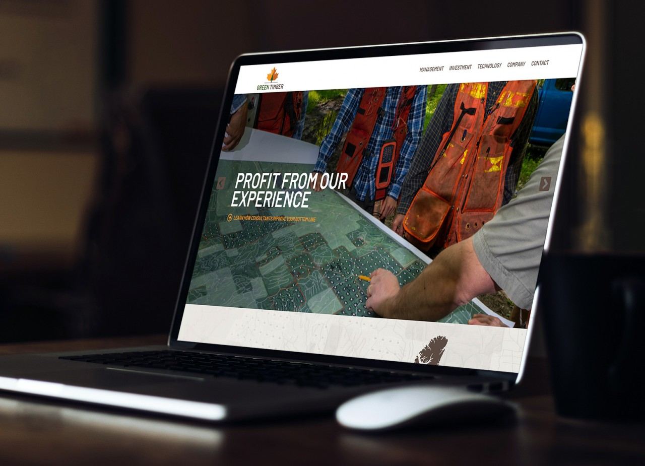 forestry timber website design features