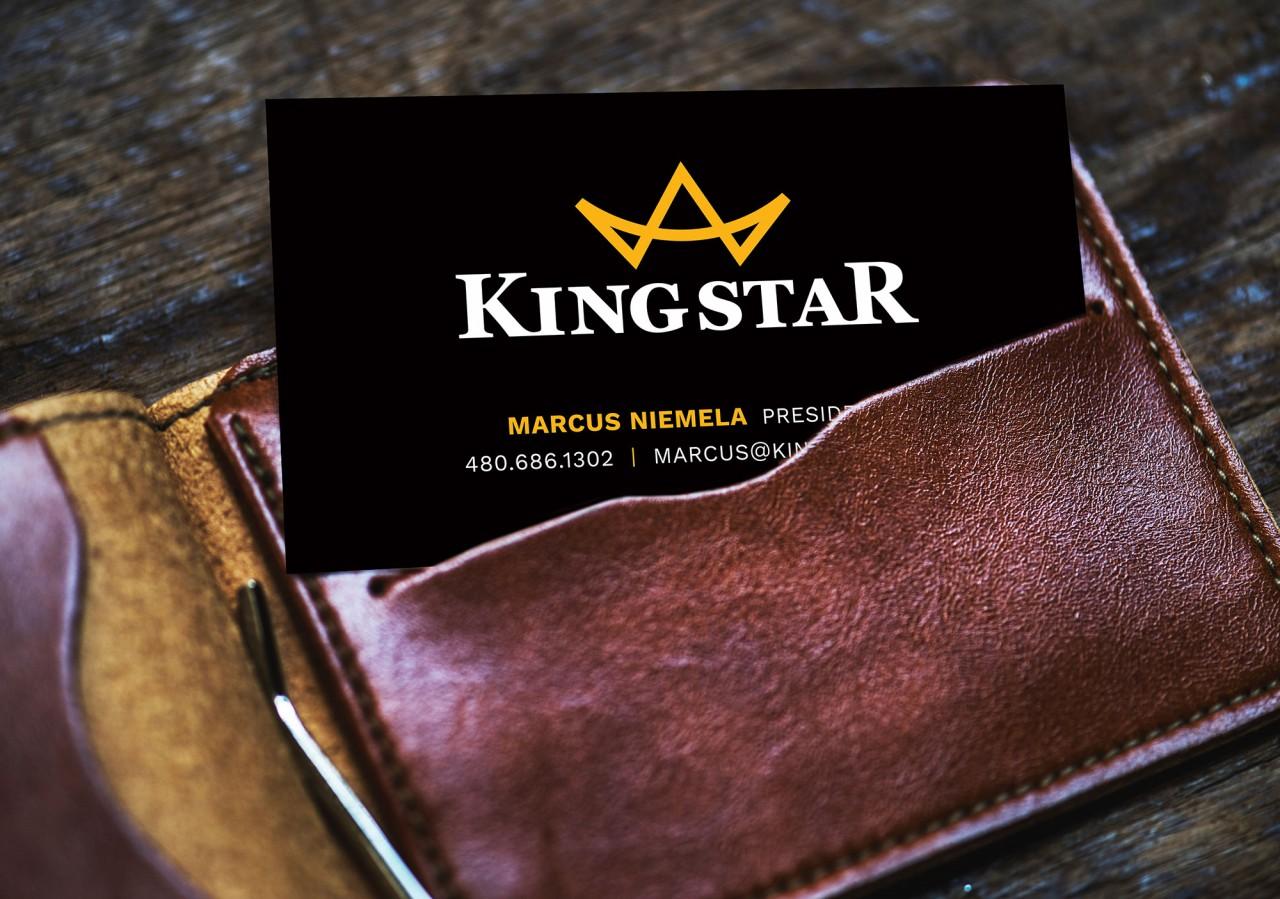 kingstar logo brand design