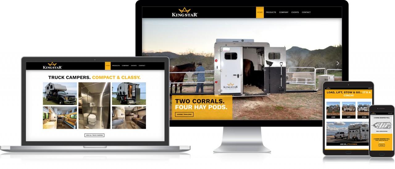 horse trailer camper website design