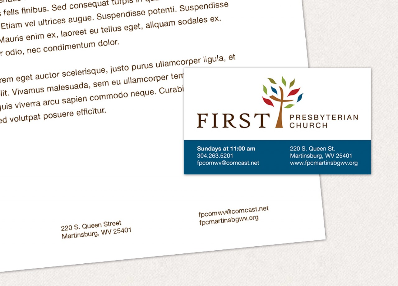 business card letterhead design