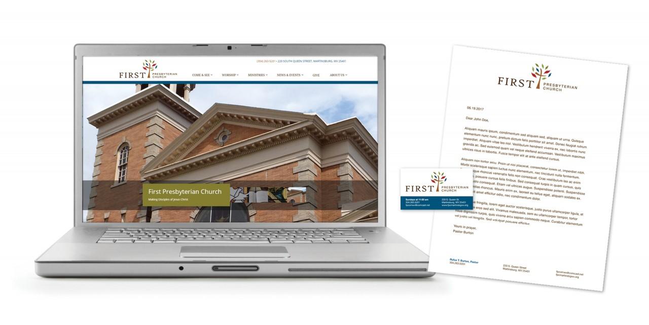 church branding logo website