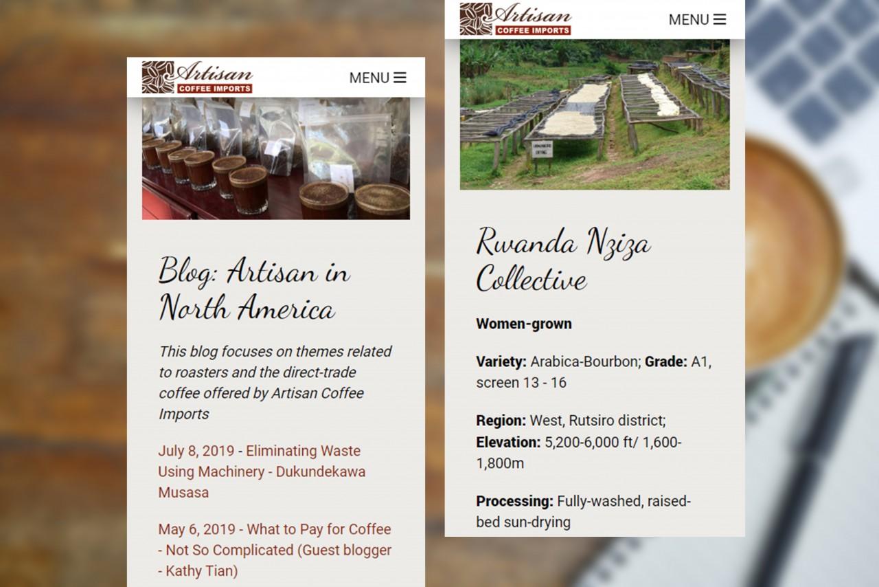 responsive coffee website