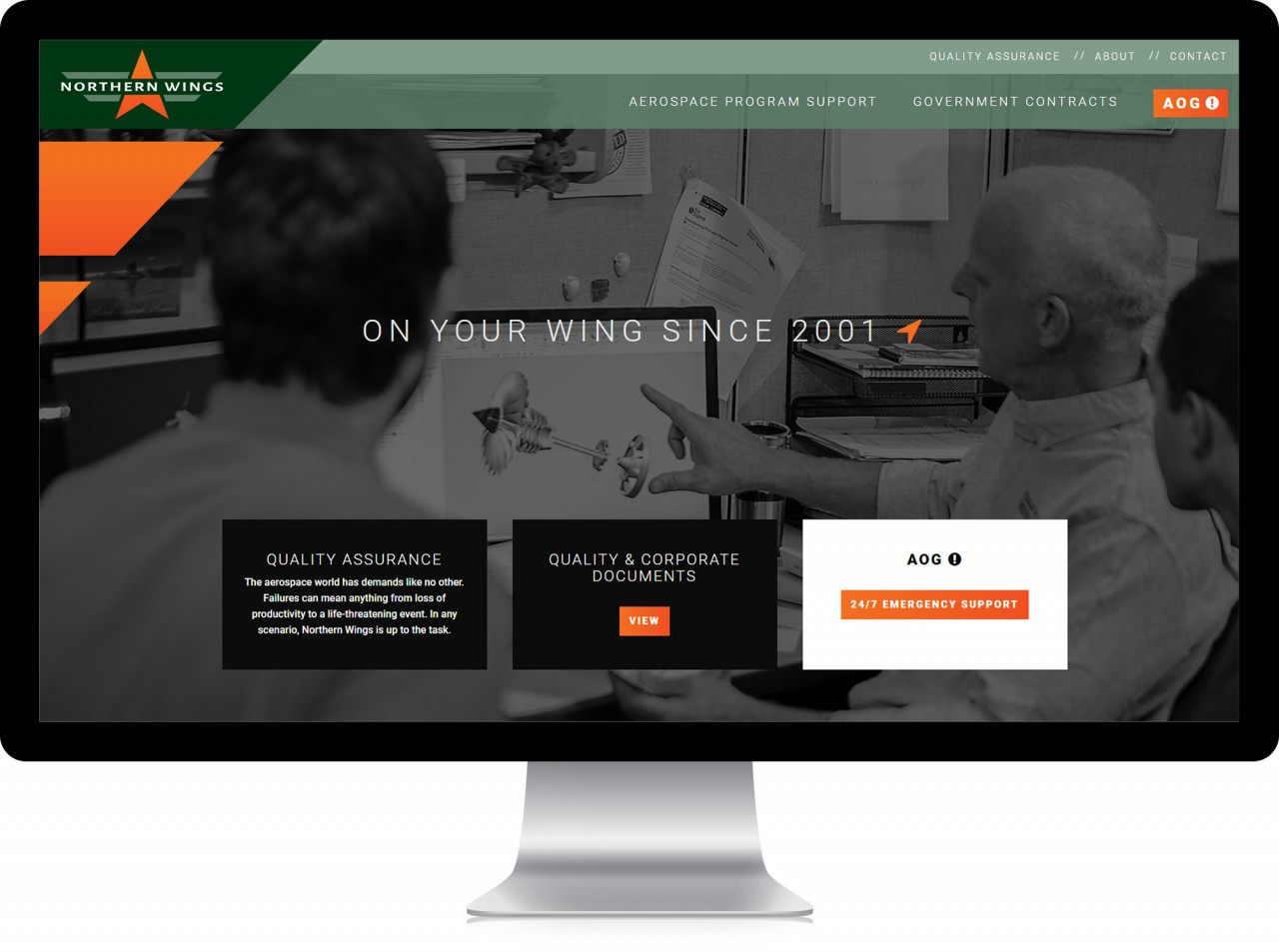 aerospace website design after