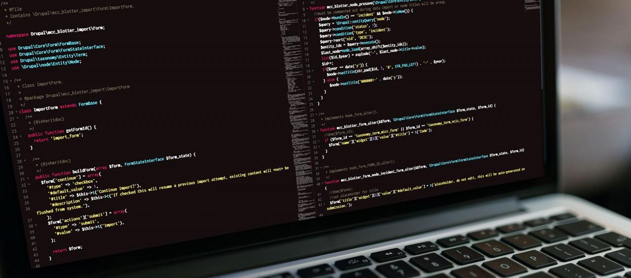 web app development and programming blotter code