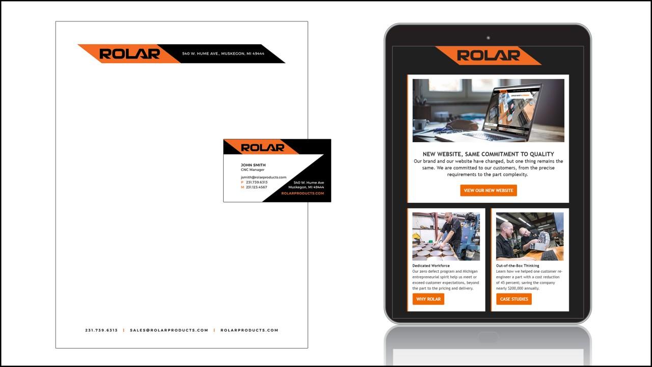 branding logo business card email design