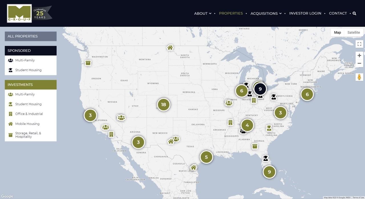 Example of custom map using Google Maps javascript API