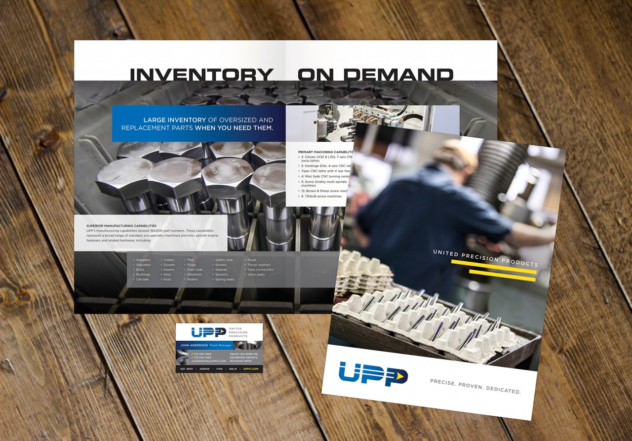 monte graphic design aerospace brochure